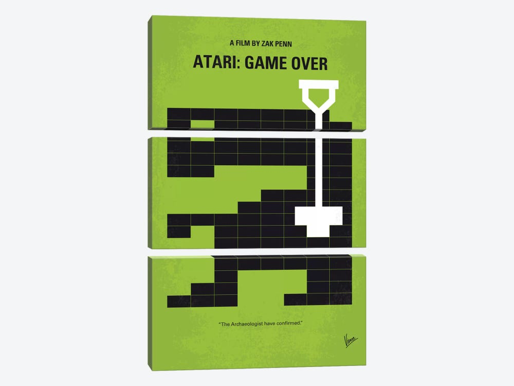 Atari: Game Over Minimal Movie Poster by Chungkong 3-piece Canvas Print
