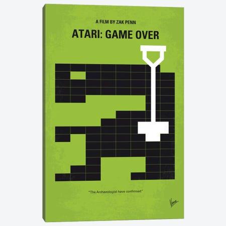 Atari: Game Over Minimal Movie Poster Canvas Print #CKG489} by Chungkong Canvas Print