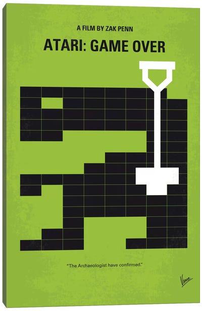 Atari: Game Over Minimal Movie Poster Canvas Art Print