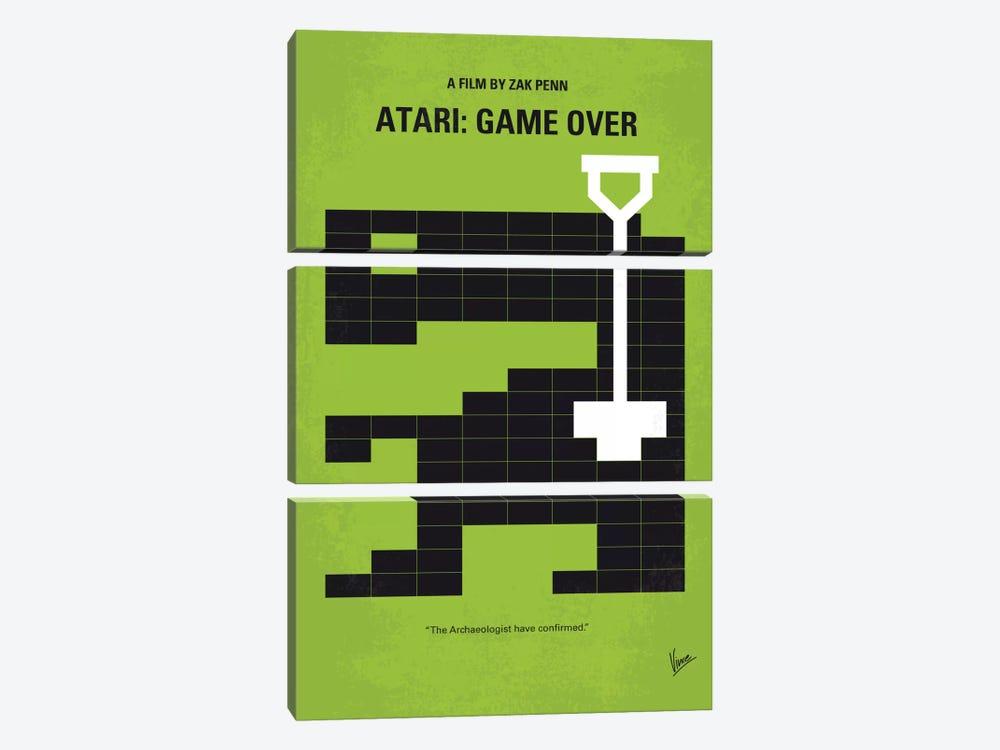 Atari: Game Over Minimal Movie Poster by Chungkong 3-piece Canvas Print