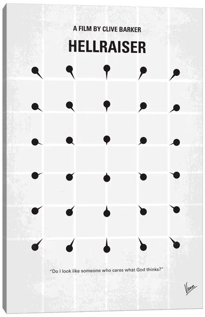 Hellraiser Minimal Movie Poster Canvas Print #CKG48