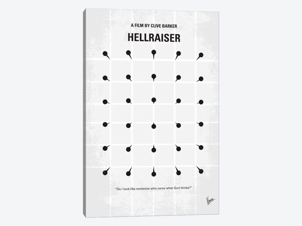 Hellraiser Minimal Movie Poster by Chungkong 1-piece Canvas Print
