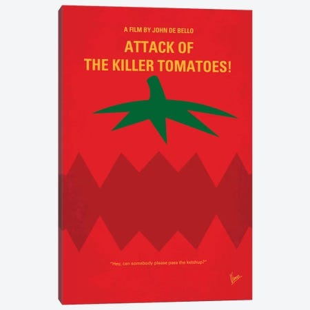 Attack Of The Killer Tomatoes Minimal Movie Poster Canvas Print #CKG490} by Chungkong Canvas Wall Art