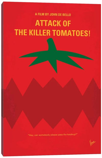 Attack Of The Killer Tomatoes Minimal Movie Poster Canvas Art Print