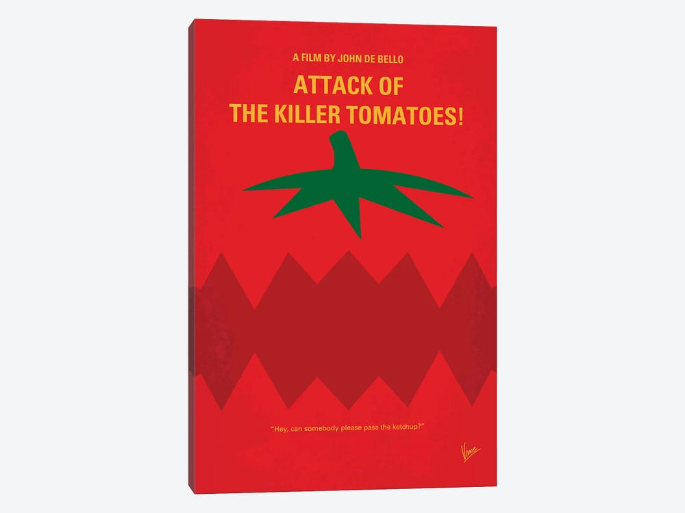 Attack Of The Killer Tomatoes Minimal Movie Poster by Chungkong 1-piece Canvas Art Print