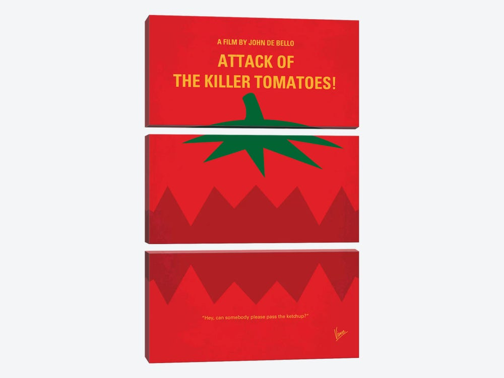 Attack Of The Killer Tomatoes Minimal Movie Poster by Chungkong 3-piece Art Print