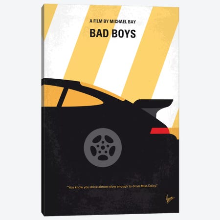 Bad Boys Minimal Movie Poster Canvas Print #CKG491} by Chungkong Canvas Art