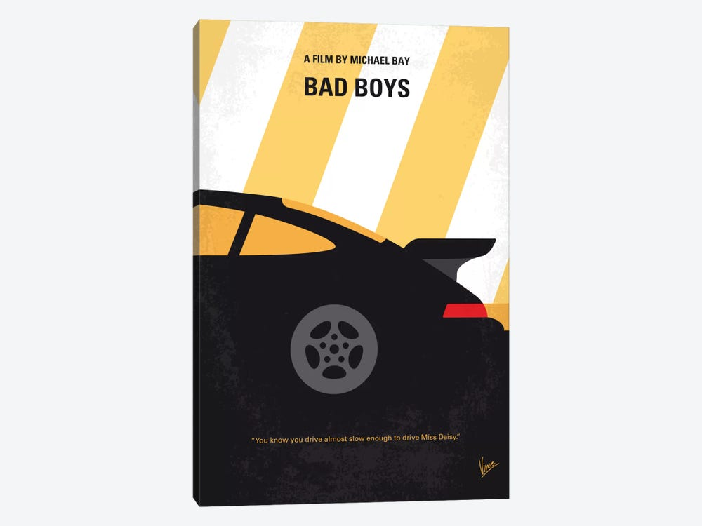 Bad Boys Minimal Movie Poster by Chungkong 1-piece Canvas Art
