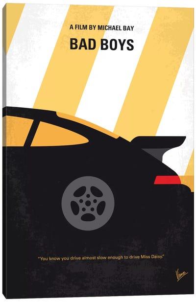 Bad Boys Minimal Movie Poster Canvas Art Print