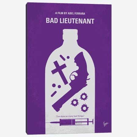 Bad Lieutenant Minimal Movie Poster Canvas Print #CKG492} by Chungkong Canvas Wall Art