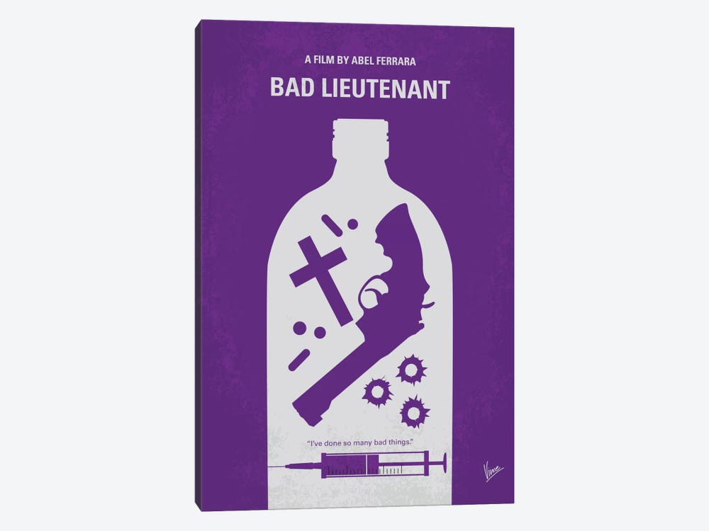 Bad Lieutenant Minimal Movie Poster by Chungkong 1-piece Art Print