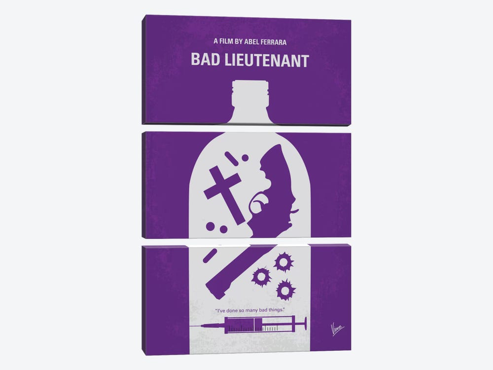 Bad Lieutenant Minimal Movie Poster 3-piece Art Print