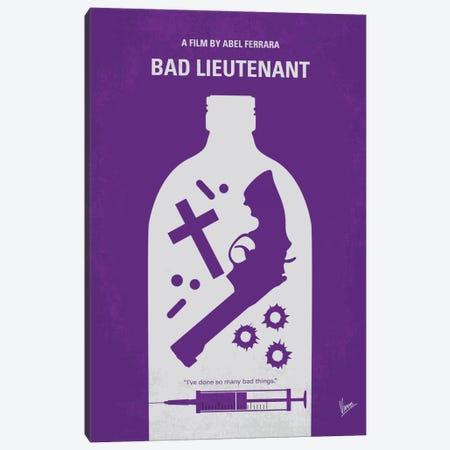 Bad Lieutenant Minimal Movie Poster Canvas Print #CKG492} by Chungkong Canvas Wall Art
