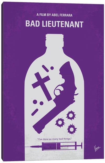 Bad Lieutenant Minimal Movie Poster Canvas Art Print