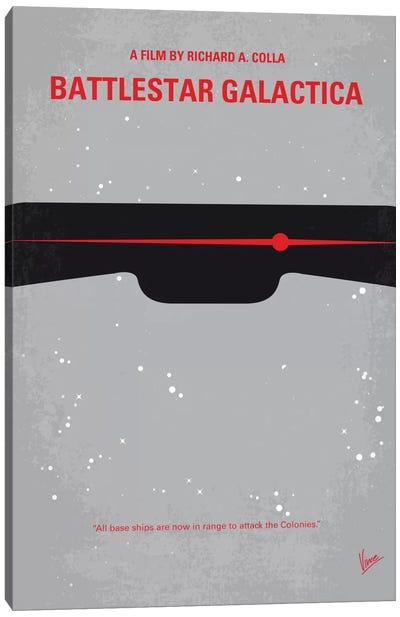 Battlestar Galactica Minimal Movie Poster Canvas Print #CKG494