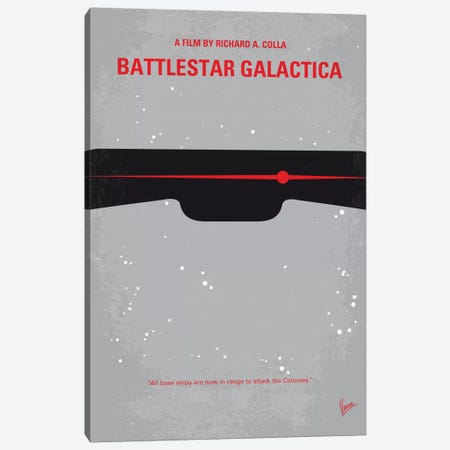 Battlestar Galactica Minimal Movie Poster 3-Piece Canvas #CKG494} by Chungkong Canvas Print
