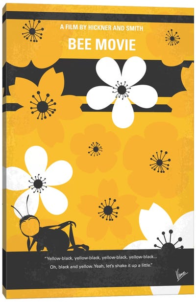 Bee Movie Minimal Movie Poster Canvas Art Print