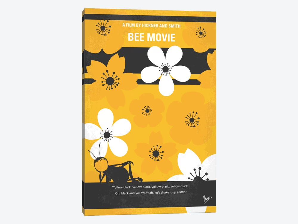 Bee Movie Minimal Movie Poster by Chungkong 1-piece Canvas Artwork