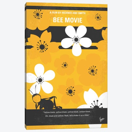 Bee Movie Minimal Movie Poster Canvas Print #CKG495} by Chungkong Canvas Print