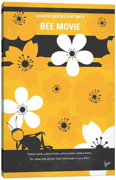 Bee Movie Minimal Movie Poster Canvas Art Print