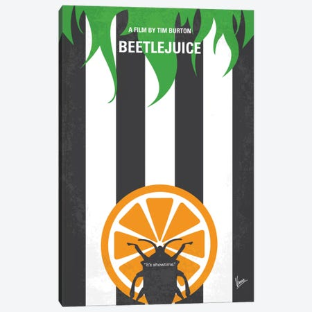 Beetlejuice Minimal Movie Poster Canvas Print #CKG496} by Chungkong Canvas Art Print
