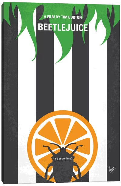 Beetlejuice Minimal Movie Poster Canvas Art Print