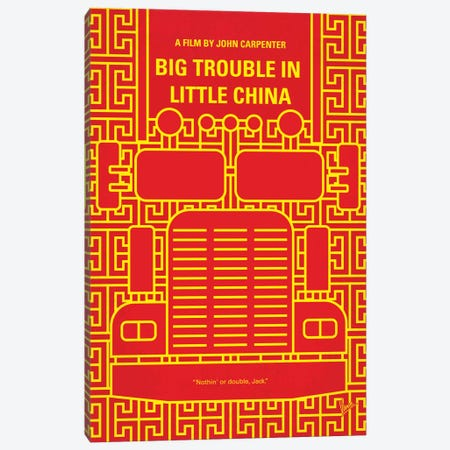 Big Trouble In Little China Minimal Movie Poster Canvas Print #CKG498} by Chungkong Canvas Wall Art