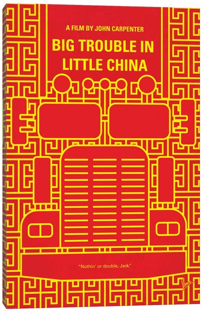 Big Trouble In Little China Minimal Movie Poster Canvas Art Print
