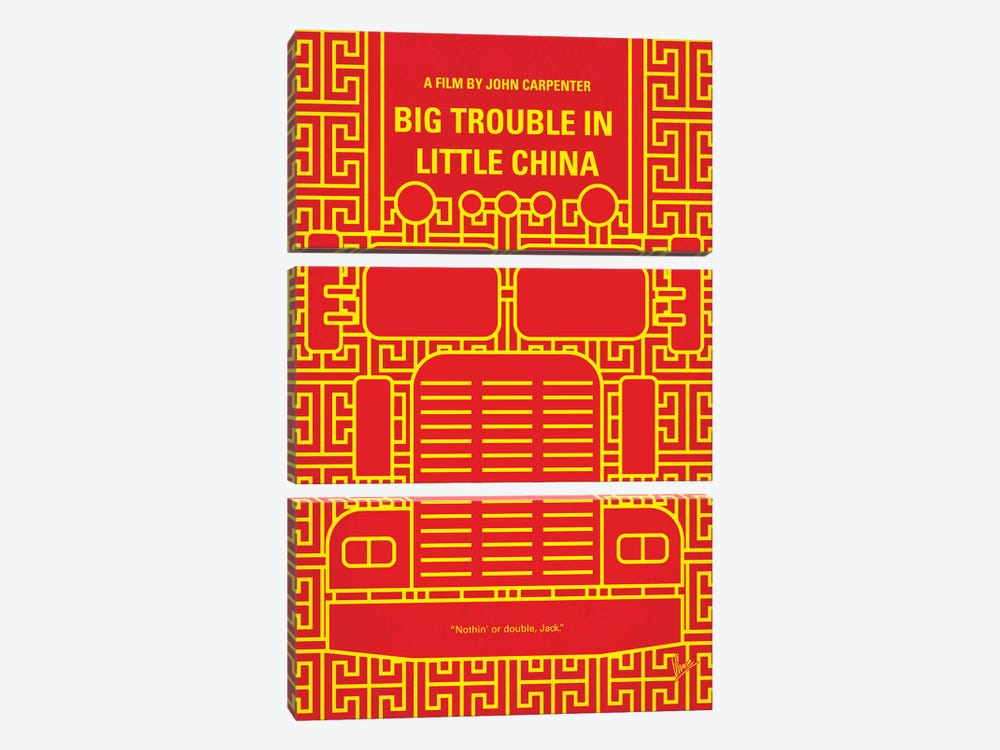 Big Trouble In Little China Minimal Movie Poster by Chungkong 3-piece Canvas Art Print