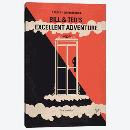 Bill & Ted's Excellent Adventure Minimal Movie Poster Canvas Print #CKG499} by Chungkong Canvas Artwork