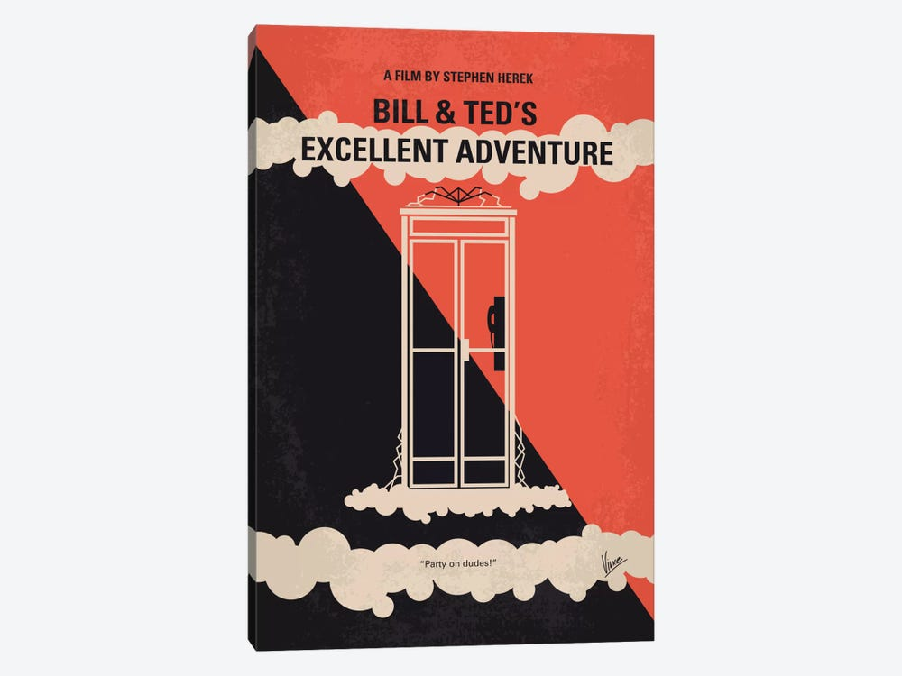 Bill & Ted's Excellent Adventure Minimal Movie Poster by Chungkong 1-piece Canvas Art