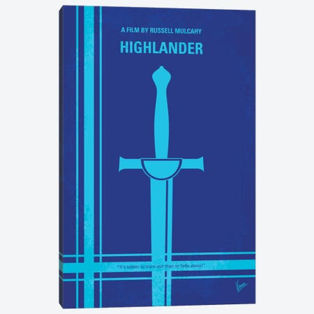 Highlander Minimal Movie Poster Canvas Print #CKG49} by Chungkong Canvas Art Print
