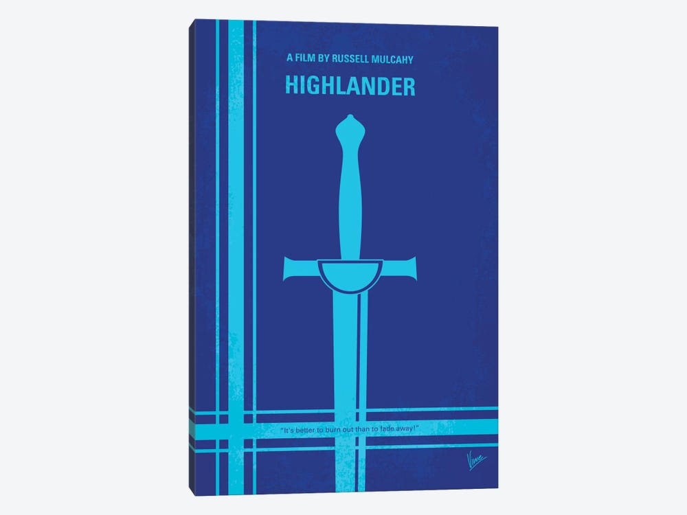 Highlander Minimal Movie Poster by Chungkong 1-piece Canvas Art