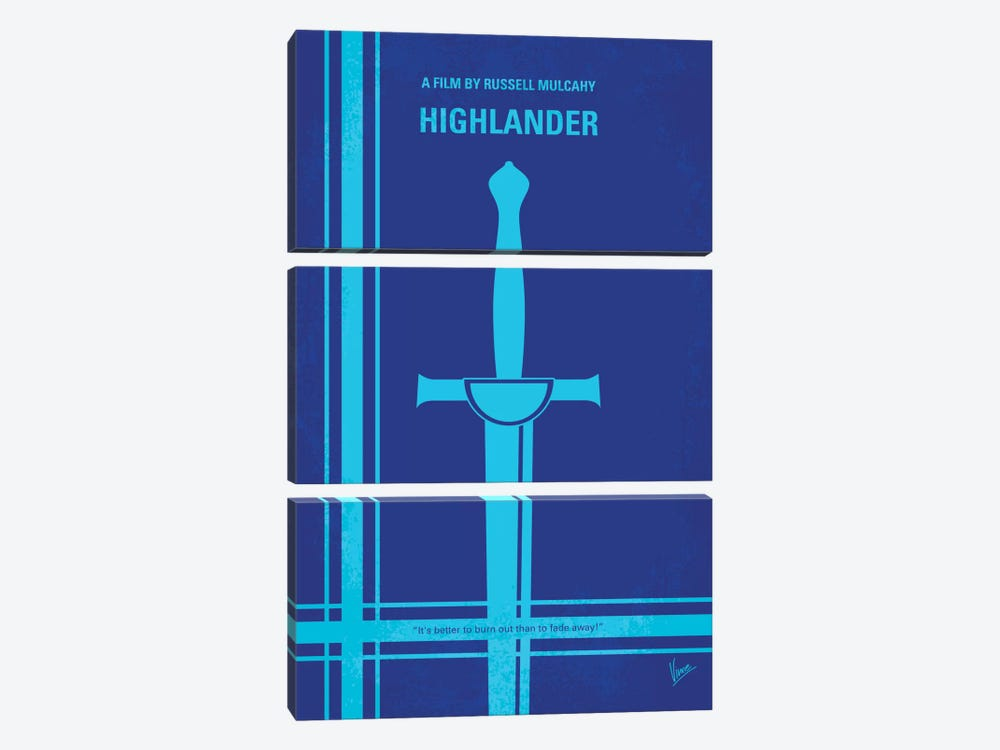 Highlander Minimal Movie Poster by Chungkong 3-piece Canvas Artwork