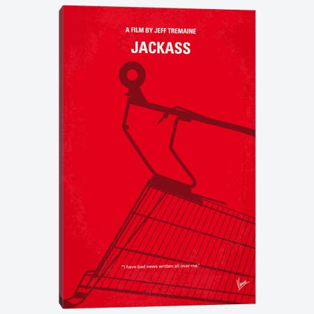 Jackass Minimal Movie Poster Canvas Print #CKG4} by Chungkong Canvas Artwork