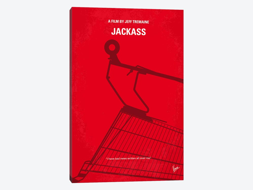 Jackass Minimal Movie Poster by Chungkong 1-piece Canvas Print