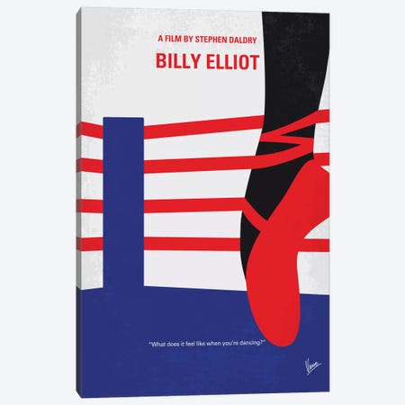 Billy Elliot Minimal Movie Poster Canvas Print #CKG500} by Chungkong Canvas Artwork