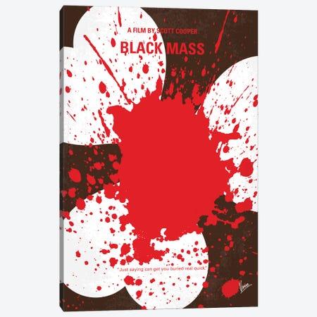 Black Mass Minimal Movie Poster Canvas Print #CKG501} by Chungkong Canvas Art