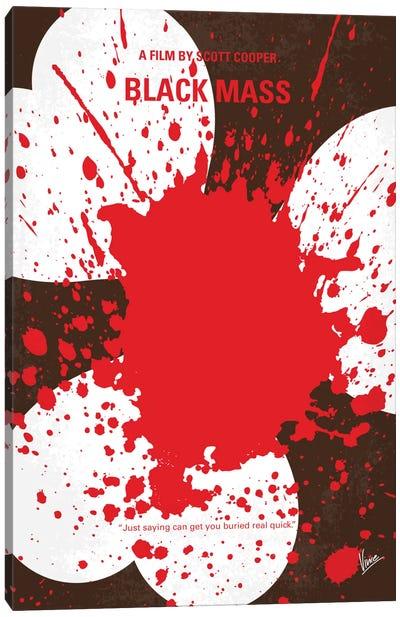 Black Mass Minimal Movie Poster Canvas Art Print