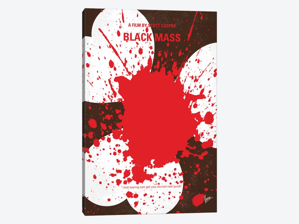 Black Mass Minimal Movie Poster by Chungkong 1-piece Canvas Artwork