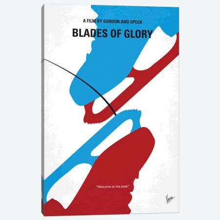 Blades Of Glory Minimal Movie Poster Canvas Print #CKG502} by Chungkong Canvas Art