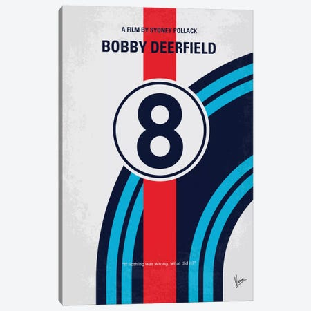Bobby Deerfield Minimal Movie Poster Canvas Print #CKG503} by Chungkong Canvas Art