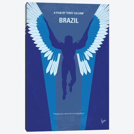 Brazil Minimal Movie Poster Canvas Print #CKG504} by Chungkong Art Print