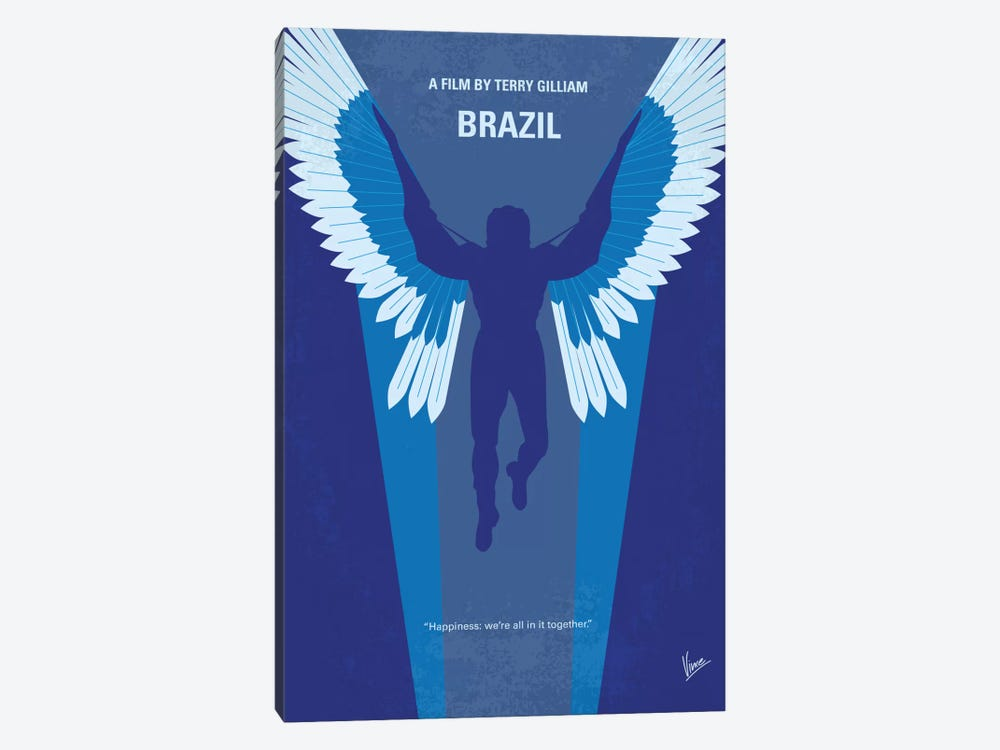 Brazil Minimal Movie Poster by Chungkong 1-piece Art Print