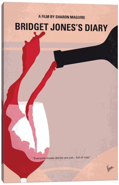 Bridget Jones's Diary Minimal Movie Poster Canvas Art Print