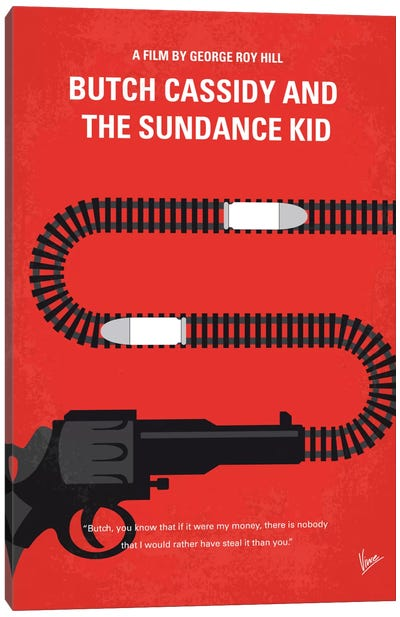Butch Cassidy And The Sundance Kid Minimal Movie Poster Canvas Art Print