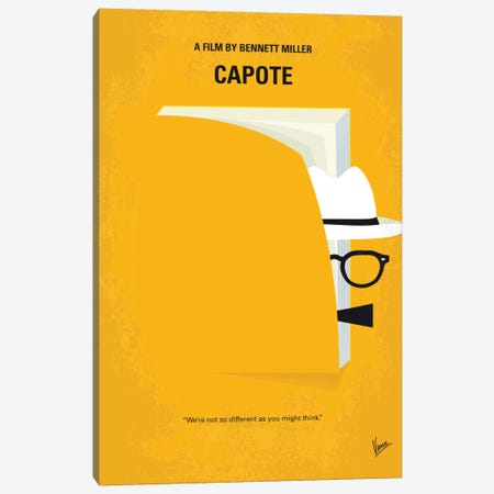 Capote Minimal Movie Poster Canvas Print #CKG508} by Chungkong Canvas Wall Art