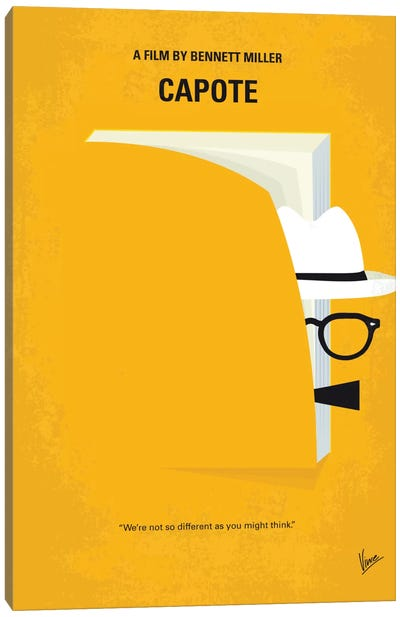 Capote Minimal Movie Poster Canvas Art Print