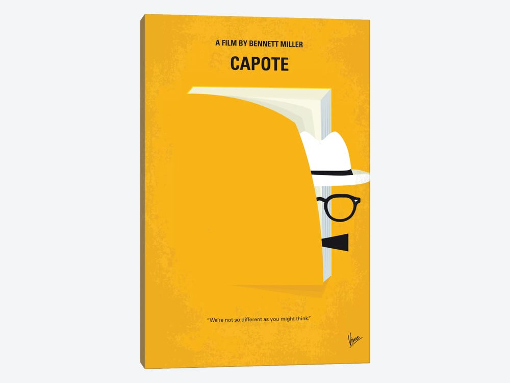 Capote Minimal Movie Poster by Chungkong 1-piece Canvas Print