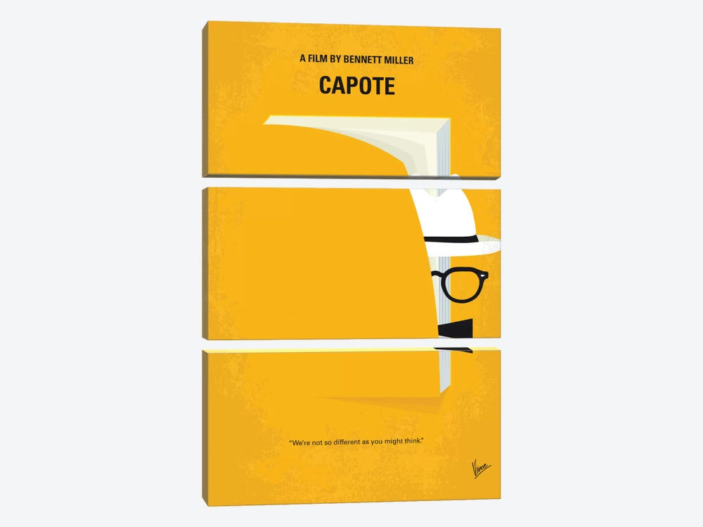 Capote Minimal Movie Poster by Chungkong 3-piece Canvas Art Print